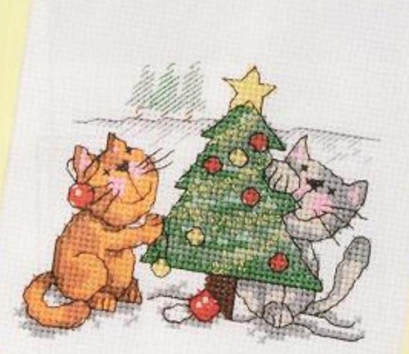 Вышивка с котами примета 28
