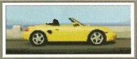 Желтый кабриолет