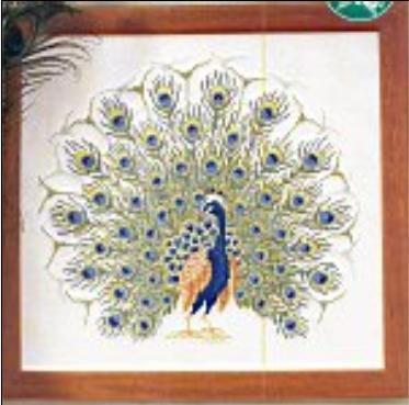 Вышивка крестиком схемы павлин