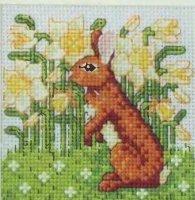 Кролик в цветах