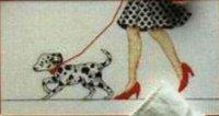 Дама с щенком далматина