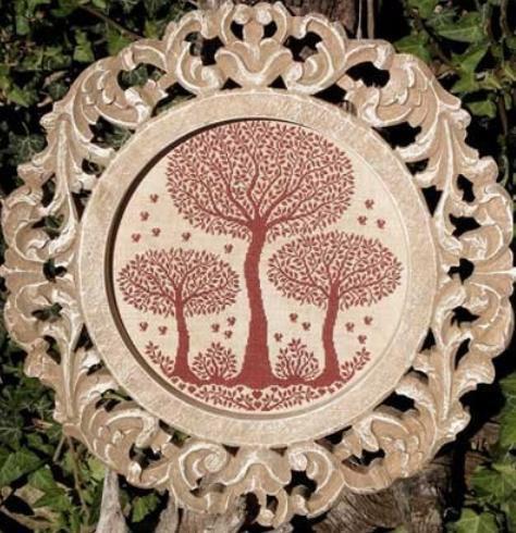 Схема вышивки дерево