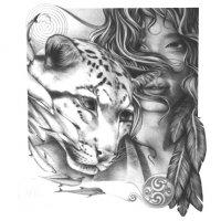 Девушка и гепард