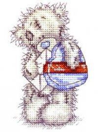 Мишка с письмом и подарком