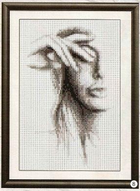 Вышивка крестиком схемы для вышивки черно-белые скачать