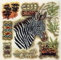 Сэмплер с зеброй