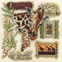 Сэмплер с жирафами