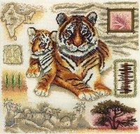Сэмплер с тиграми
