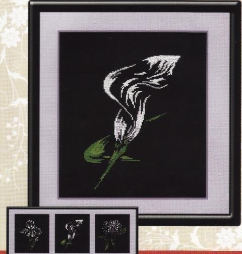черная вышивка крестом схемы