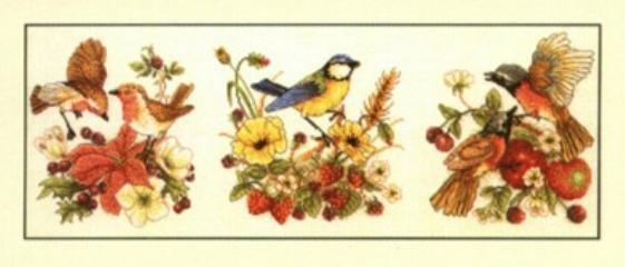 Схема вышивки крестом птицы птицы