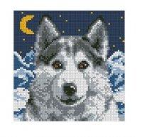 Волк маленькая вышивка схемы