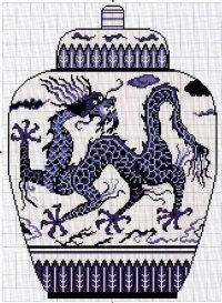 Дракон на вазе