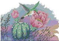 Колибри на кактусе
