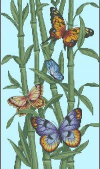 Бабочки и бамбук вариант 2