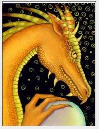 Желтый дракон с жемчужиной