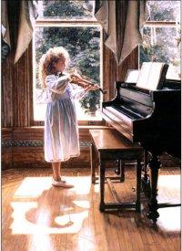 Девочка, играющая на скрипке