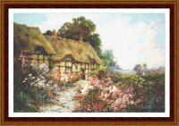 Дом с коричневой крышей