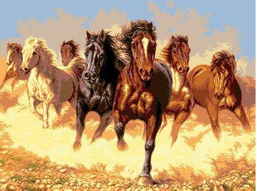 Бегущие лошади вариант 1