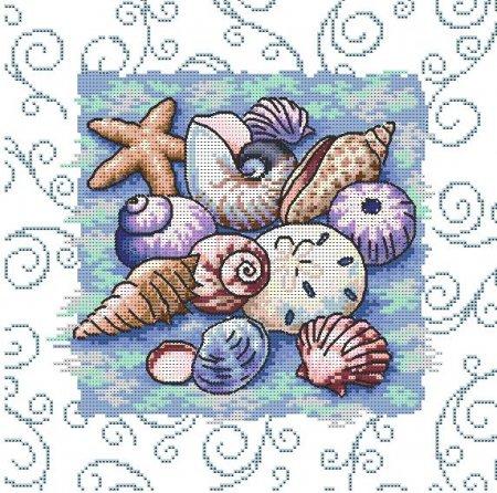Ракушки морские схема вышивки