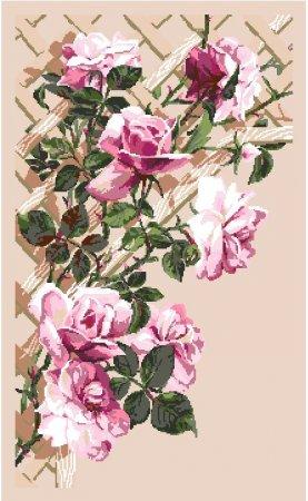Розы на шпалере