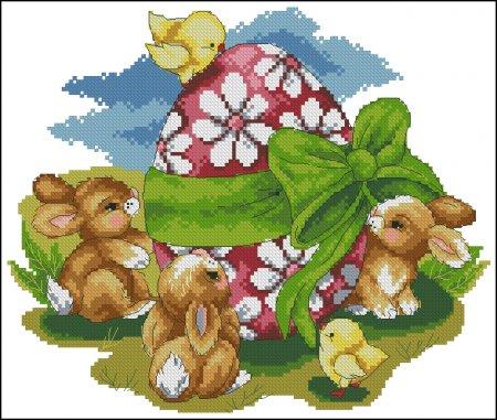 Пасхальные кролики вариант 1