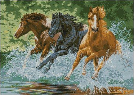 Бегущие лошади вариант 2