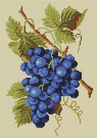 Гроздь винограда схема вышивки
