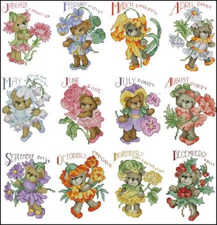 Календарь с мишками