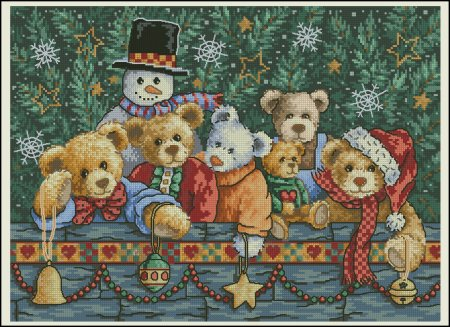 Рождественские мишки схема