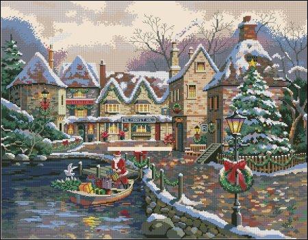 Санта в лодке