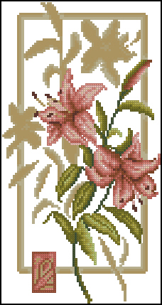 Розовые лилии вариант 2