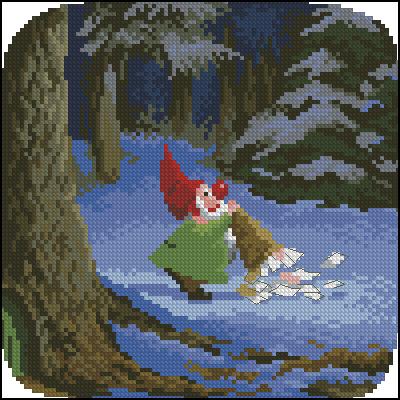 Гномик в лесу
