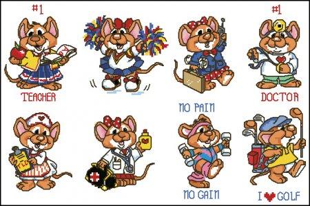 Магнитики с мышатами