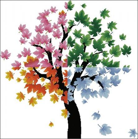 Дерево с разноцветными