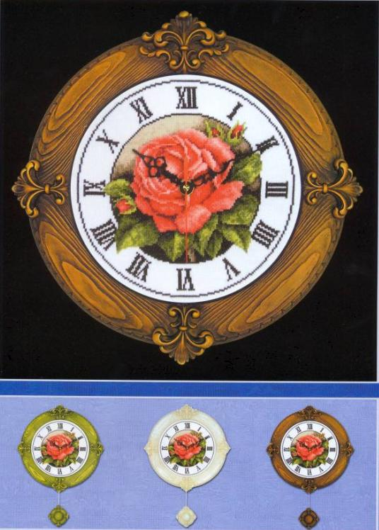 Часы с розами Часы с Розами
