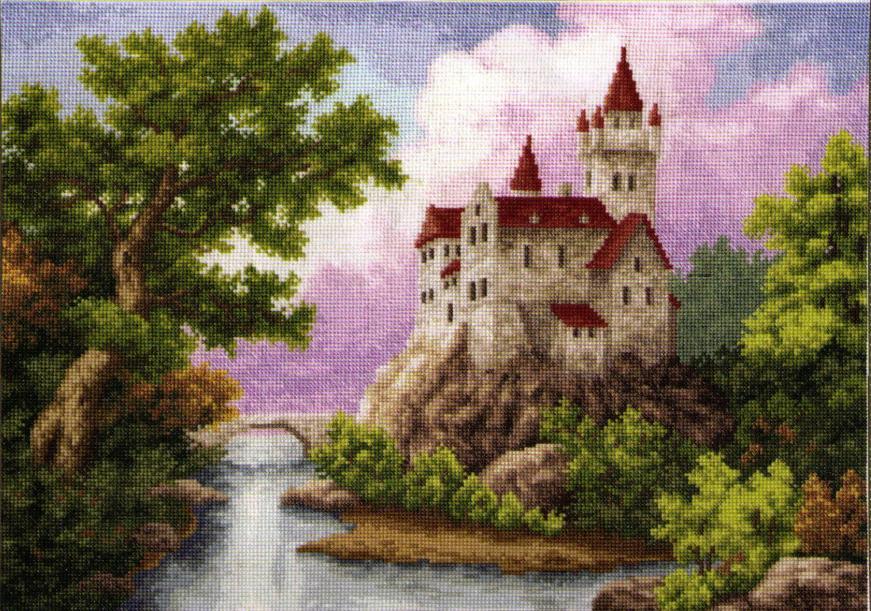 Замок схема вышивки крестом.