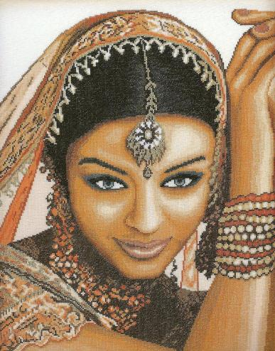 Индийская девушка схема вышивки крестом.: http://www.krestiki.net/353-indijskaya-devushka.html