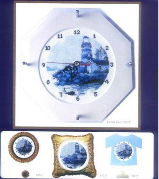 Часы маяк схема вышивки