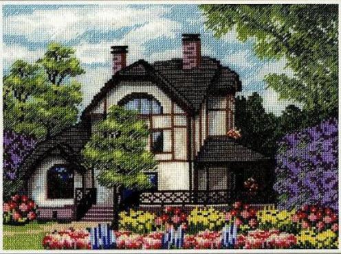 схемы домов для вышивания.
