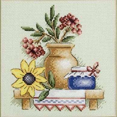 Березовая роща схема вышивки крестом