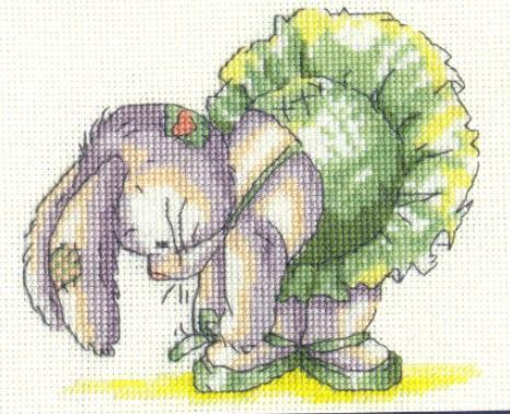 Зайчик-балерина схема вышивки