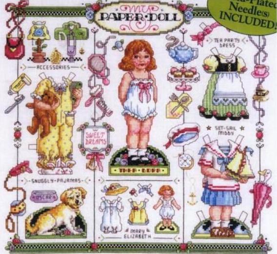 Сэмплер кукла схема вышивки