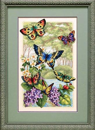 веточки цветов Лес бабочек
