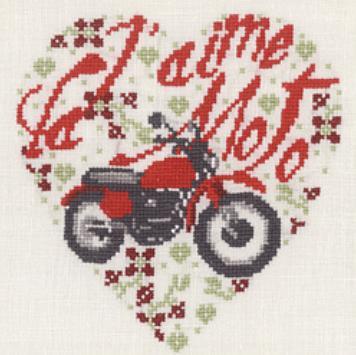 Сердце с мотоциклом схема