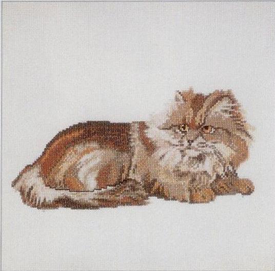 Кошки.  Животные.  Вышивка Рыжий кот Категория.
