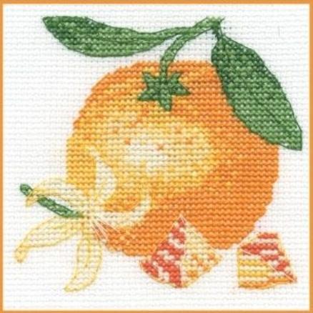 Апельсин вышивка крестом схемы 9