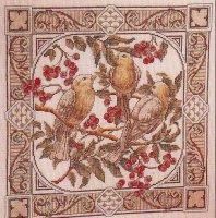 Сэмплер с птицами