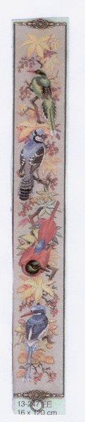 Вертикальная панель с различными красивыми птичками